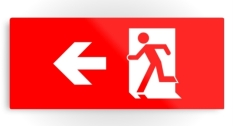 Running Man Fire Safety Exit Sign Emergency Evacuation Printed Metal 13