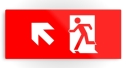 Running Man Fire Safety Exit Sign Emergency Evacuation Printed Metal 14