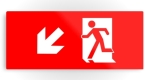 Running Man Fire Safety Exit Sign Emergency Evacuation Printed Metal 15