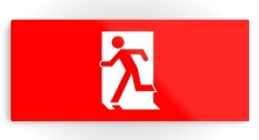 Running Man Fire Safety Exit Sign Emergency Evacuation Printed Metal 17