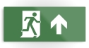Running Man Fire Safety Exit Sign Emergency Evacuation Printed Metal 19