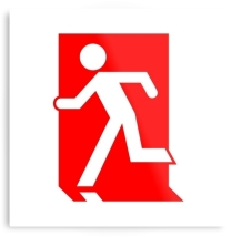 Running Man Fire Safety Exit Sign Emergency Evacuation Printed Metal 2