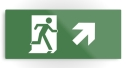 Running Man Fire Safety Exit Sign Emergency Evacuation Printed Metal 21