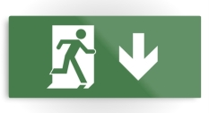 Running Man Fire Safety Exit Sign Emergency Evacuation Printed Metal 23