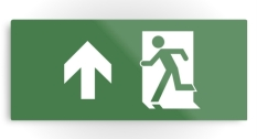 Running Man Fire Safety Exit Sign Emergency Evacuation Printed Metal 25