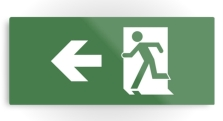 Running Man Fire Safety Exit Sign Emergency Evacuation Printed Metal 26