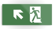 Running Man Fire Safety Exit Sign Emergency Evacuation Printed Metal 27