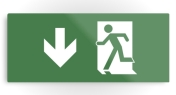 Running Man Fire Safety Exit Sign Emergency Evacuation Printed Metal 29