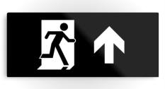 Running Man Fire Safety Exit Sign Emergency Evacuation Printed Metal 31