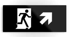 Running Man Fire Safety Exit Sign Emergency Evacuation Printed Metal 33