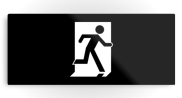 Running Man Fire Safety Exit Sign Emergency Evacuation Printed Metal 36