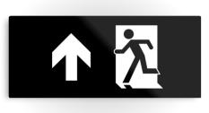 Running Man Fire Safety Exit Sign Emergency Evacuation Printed Metal 37