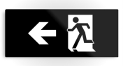 Running Man Fire Safety Exit Sign Emergency Evacuation Printed Metal 38
