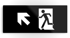 Running Man Fire Safety Exit Sign Emergency Evacuation Printed Metal 39