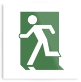 Running Man Fire Safety Exit Sign Emergency Evacuation Printed Metal 4