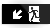 Running Man Fire Safety Exit Sign Emergency Evacuation Printed Metal 40