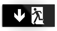 Running Man Fire Safety Exit Sign Emergency Evacuation Printed Metal 41