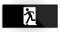 Running Man Fire Safety Exit Sign Emergency Evacuation Printed Metal 42