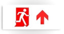 Running Man Fire Safety Exit Sign Emergency Evacuation Printed Metal 43