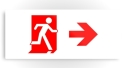Running Man Fire Safety Exit Sign Emergency Evacuation Printed Metal 44