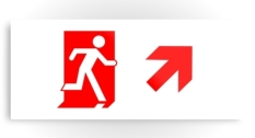 Running Man Fire Safety Exit Sign Emergency Evacuation Printed Metal 45