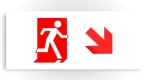 Running Man Fire Safety Exit Sign Emergency Evacuation Printed Metal 46