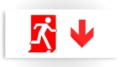 Running Man Fire Safety Exit Sign Emergency Evacuation Printed Metal 47