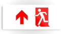 Running Man Fire Safety Exit Sign Emergency Evacuation Printed Metal 49