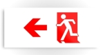 Running Man Fire Safety Exit Sign Emergency Evacuation Printed Metal 50