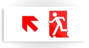 Running Man Fire Safety Exit Sign Emergency Evacuation Printed Metal 51