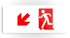 Running Man Fire Safety Exit Sign Emergency Evacuation Printed Metal 52