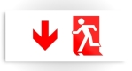 Running Man Fire Safety Exit Sign Emergency Evacuation Printed Metal 53