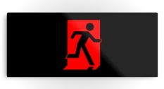 Running Man Fire Safety Exit Sign Emergency Evacuation Printed Metal 55