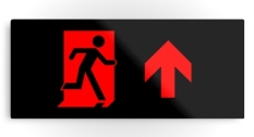 Running Man Fire Safety Exit Sign Emergency Evacuation Printed Metal 56