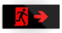 Running Man Fire Safety Exit Sign Emergency Evacuation Printed Metal 57