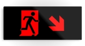 Running Man Fire Safety Exit Sign Emergency Evacuation Printed Metal 59