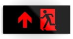 Running Man Fire Safety Exit Sign Emergency Evacuation Printed Metal 61