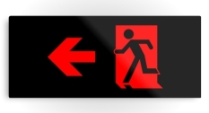 Running Man Fire Safety Exit Sign Emergency Evacuation Printed Metal 62