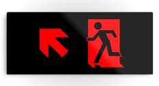 Running Man Fire Safety Exit Sign Emergency Evacuation Printed Metal 63