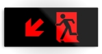 Running Man Fire Safety Exit Sign Emergency Evacuation Printed Metal 64