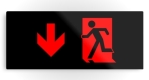 Running Man Fire Safety Exit Sign Emergency Evacuation Printed Metal 65