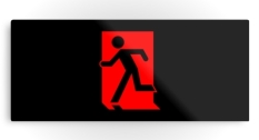 Running Man Fire Safety Exit Sign Emergency Evacuation Printed Metal 66