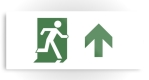 Running Man Fire Safety Exit Sign Emergency Evacuation Printed Metal 67
