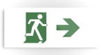 Running Man Fire Safety Exit Sign Emergency Evacuation Printed Metal 68