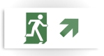 Running Man Fire Safety Exit Sign Emergency Evacuation Printed Metal 69