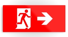 Running Man Fire Safety Exit Sign Emergency Evacuation Printed Metal 7