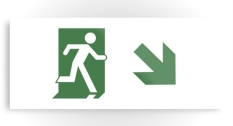 Running Man Fire Safety Exit Sign Emergency Evacuation Printed Metal 70