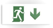 Running Man Fire Safety Exit Sign Emergency Evacuation Printed Metal 71