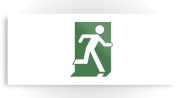 Running Man Fire Safety Exit Sign Emergency Evacuation Printed Metal 72