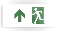 Running Man Fire Safety Exit Sign Emergency Evacuation Printed Metal 73